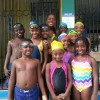 Swim Team members meet Alia Atkinson!