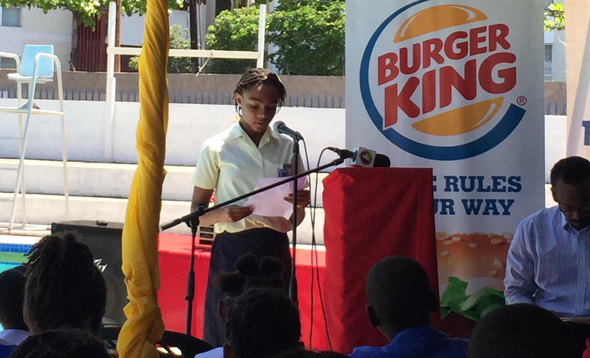 Swimmers attended the media launch of the Burger King Swim