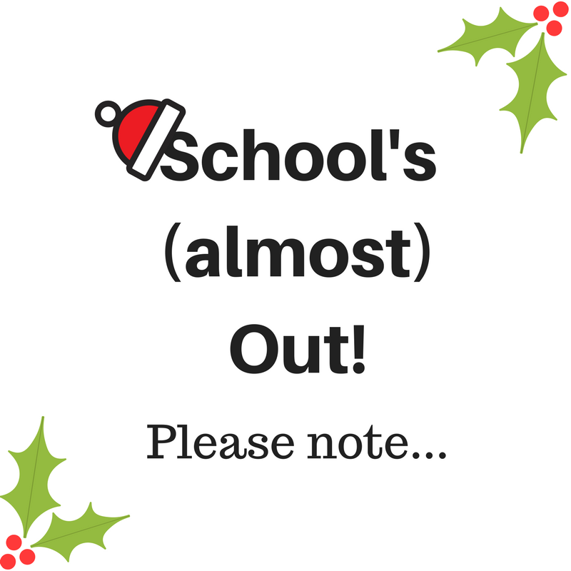 School's (almost) Out!